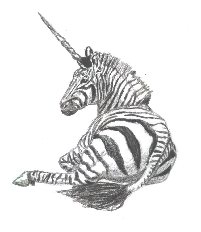 @jazzynotesgirl7 cute zebracorn drawing!