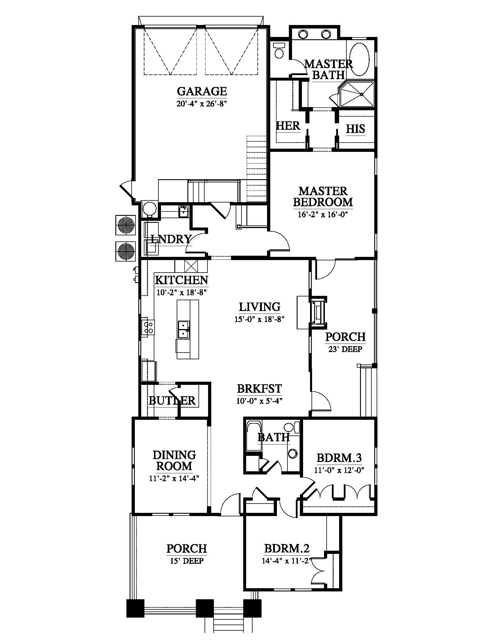 Chesapeake Bungalow 10325 House Plan 10325 Design From Allison Ramsey Architects House Plans Cottage House Plans How To Plan