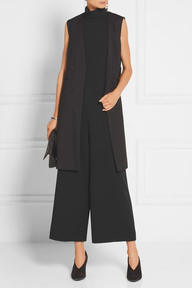Black crepe Concealed zip fastening along back 70% triacetate, 30% polyester Dry clean Imported