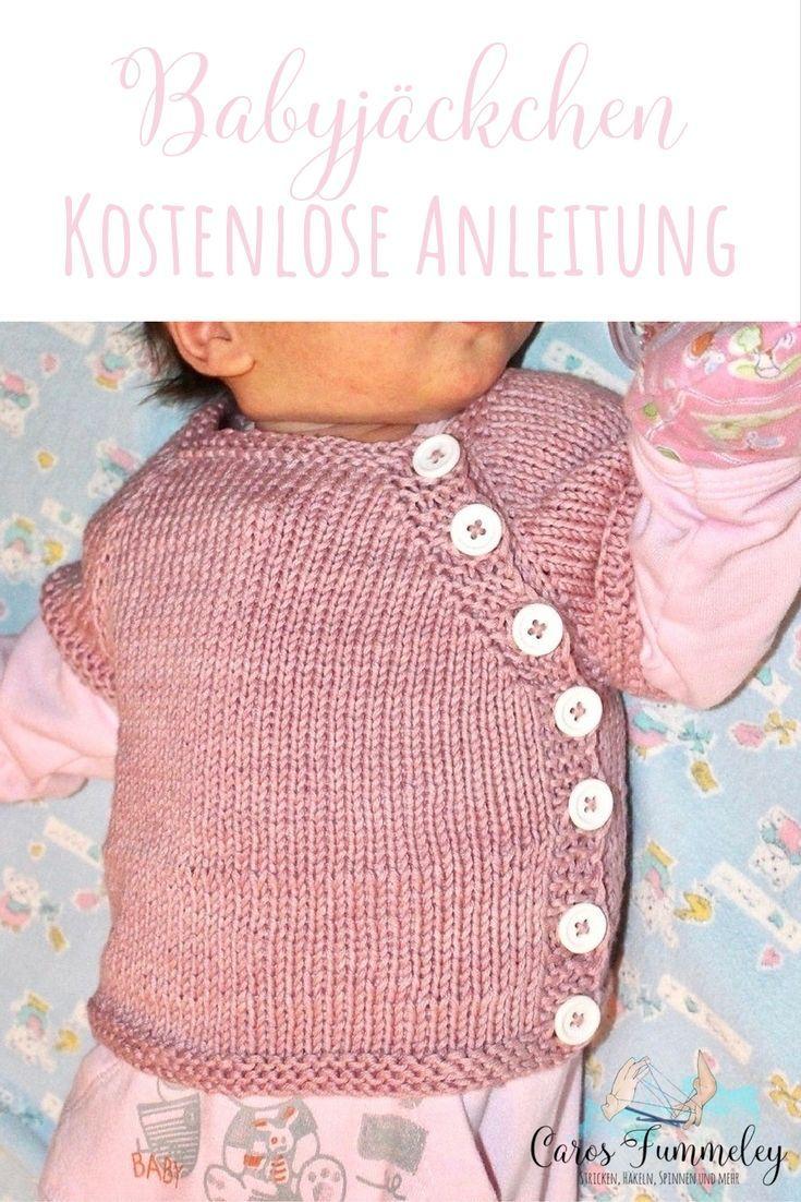 Kostenlose Strickanleitung für die Puerperium Strickjacke für Neugeborene  auf deutsch – ohne Naht  stricken  schlüttli 924d1fe18bb