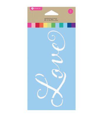 """Stencil 3.5""""X6""""-Love"""