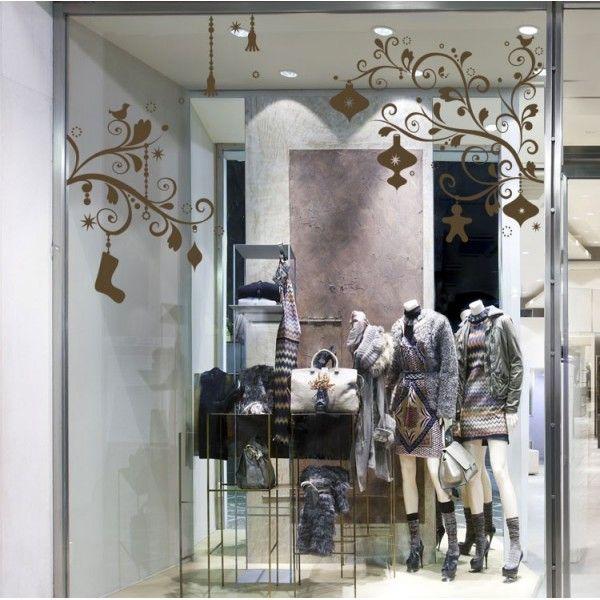 Habillez les murs ou la vitrine de votre magasin avec un ensemble de d coration de no l compos - Decoration vitrine noel magasin ...