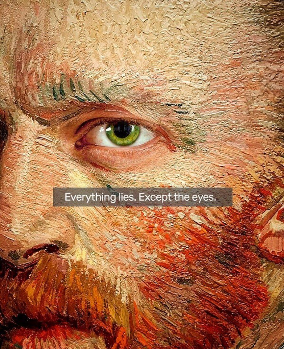 Everything Lies Except The Eyes Loveit Vincent Eyes