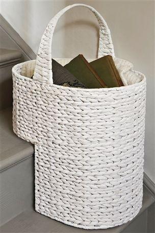 White Stair Basket