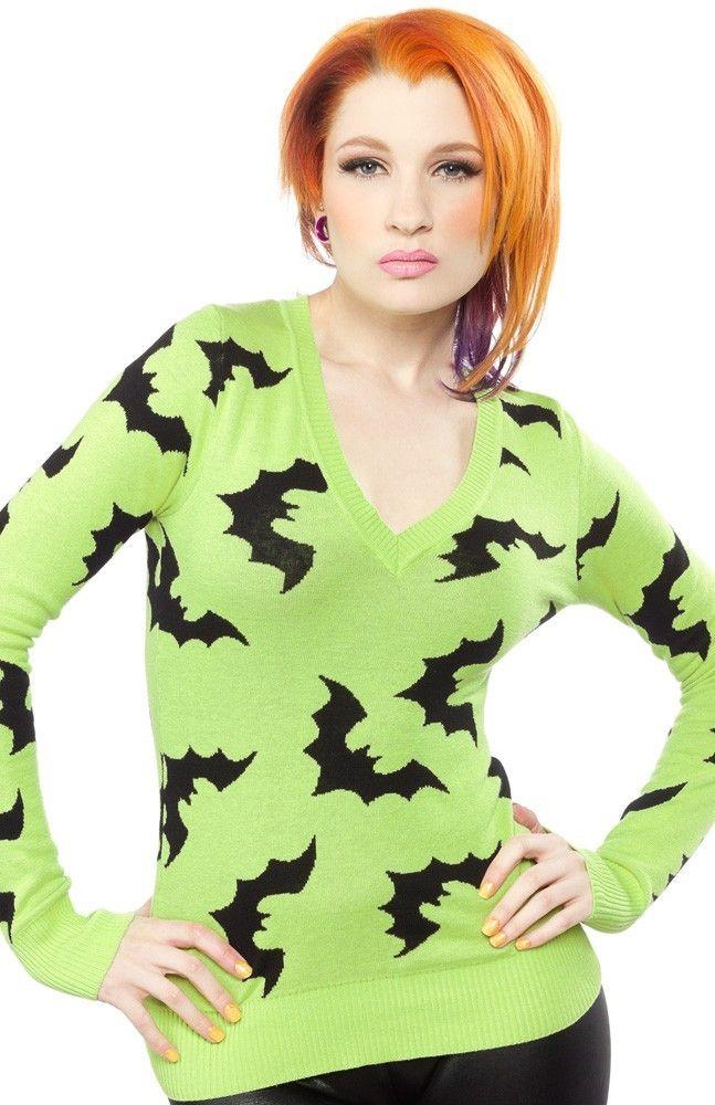Sourpuss - Batty Sweater - Buy Online Australia Beserk