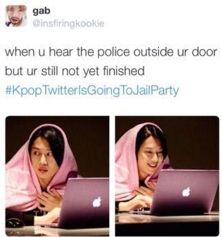 Kpoptwitterisgoingtojailparty Kpop Funny Kpop Memes Drama Memes