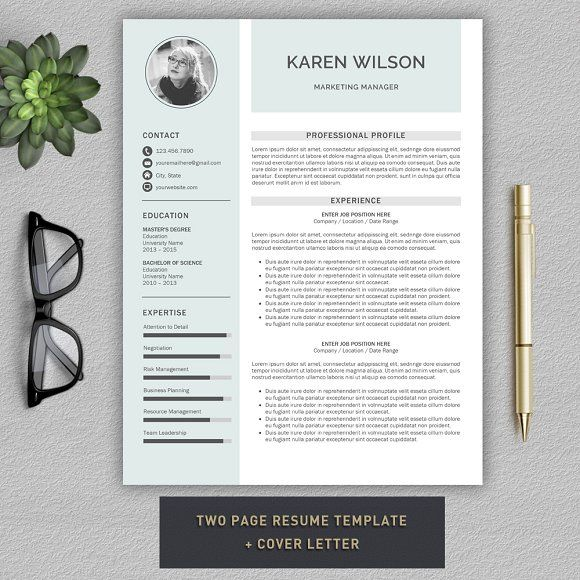 resume cv template by prographicdesign on creativemarket