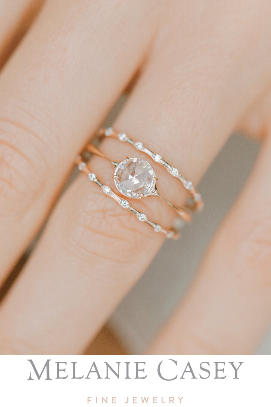A Dreamy Simple Stack Petite Diamond Distance Band Upon A Star