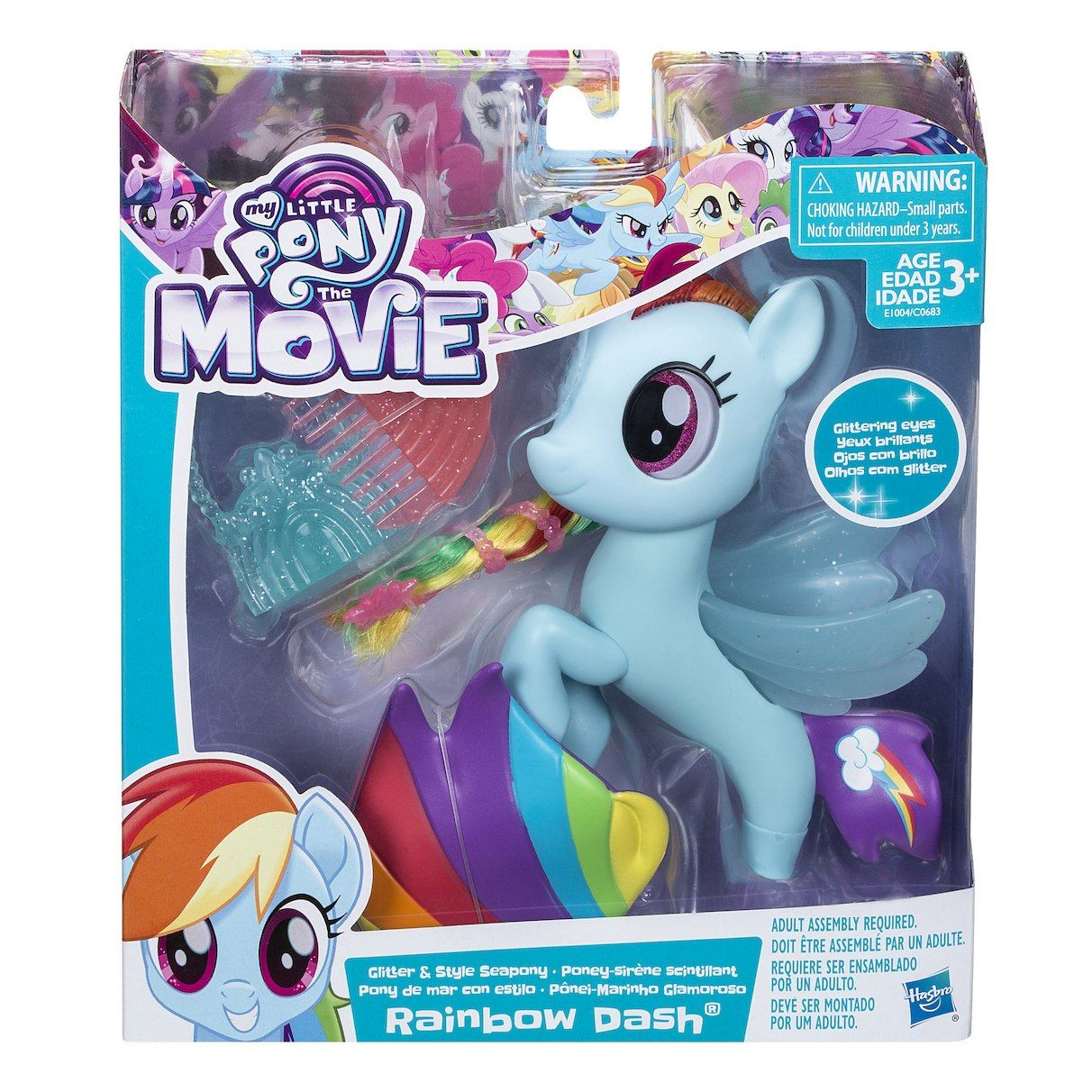 My Little Pony The Movie Rainbow Dash Glitter And Style Sea Pony Playset Raven Fun Toys More