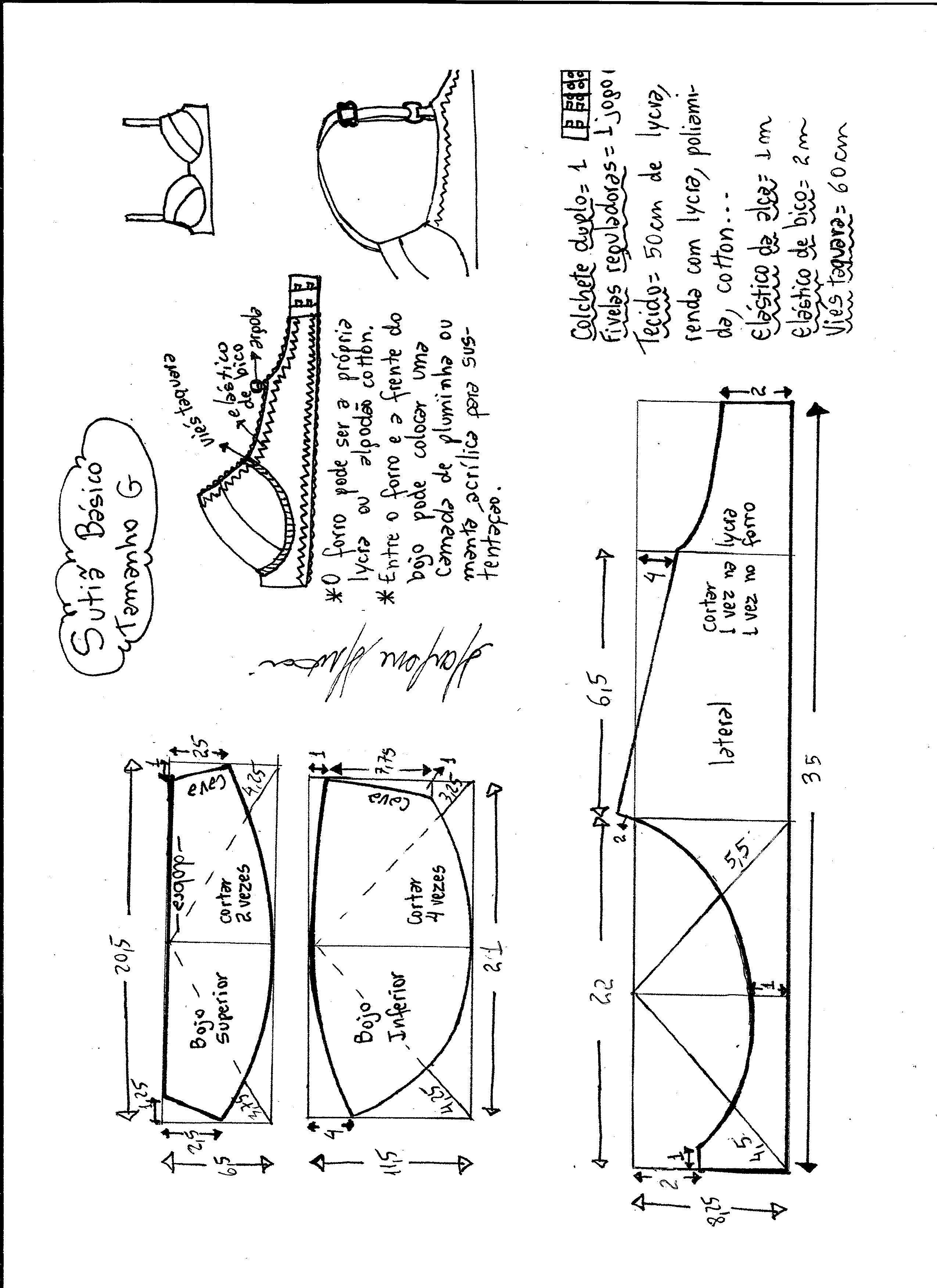 Patrón Sujetador, sostén | libro | Sostén, Patrones y Costura