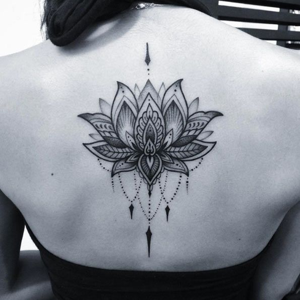 Lotus Flower Tattoo by Nick Hart