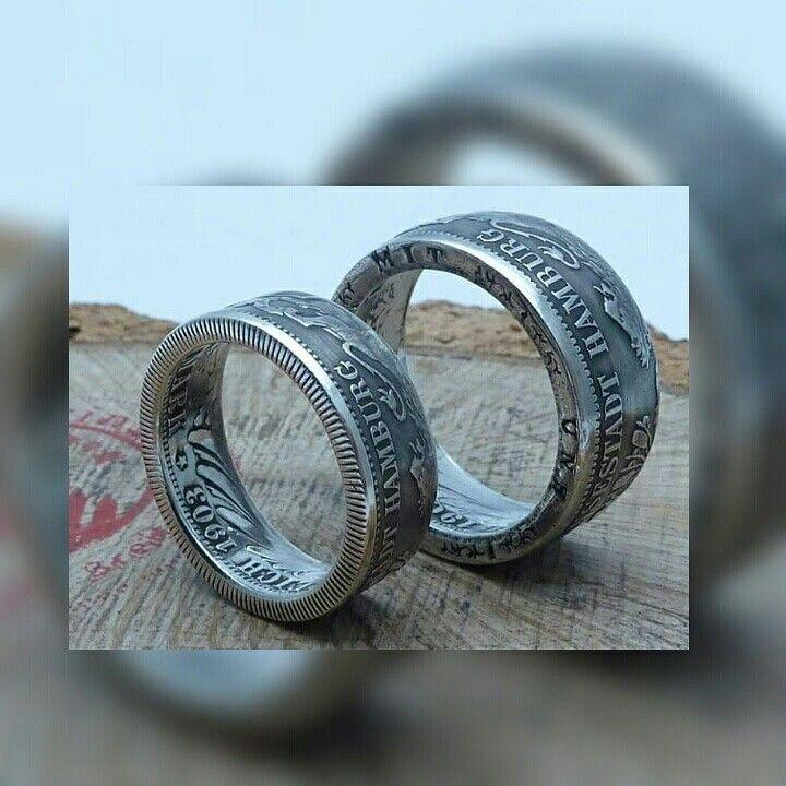 Wwwmuenzenringede Partnerringe Hamburg Aus Silber Ring Coin