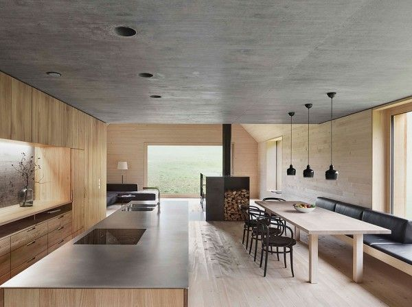 Innenarchitektur Vorarlberg wooden house with studio by bernardo bader architects küche