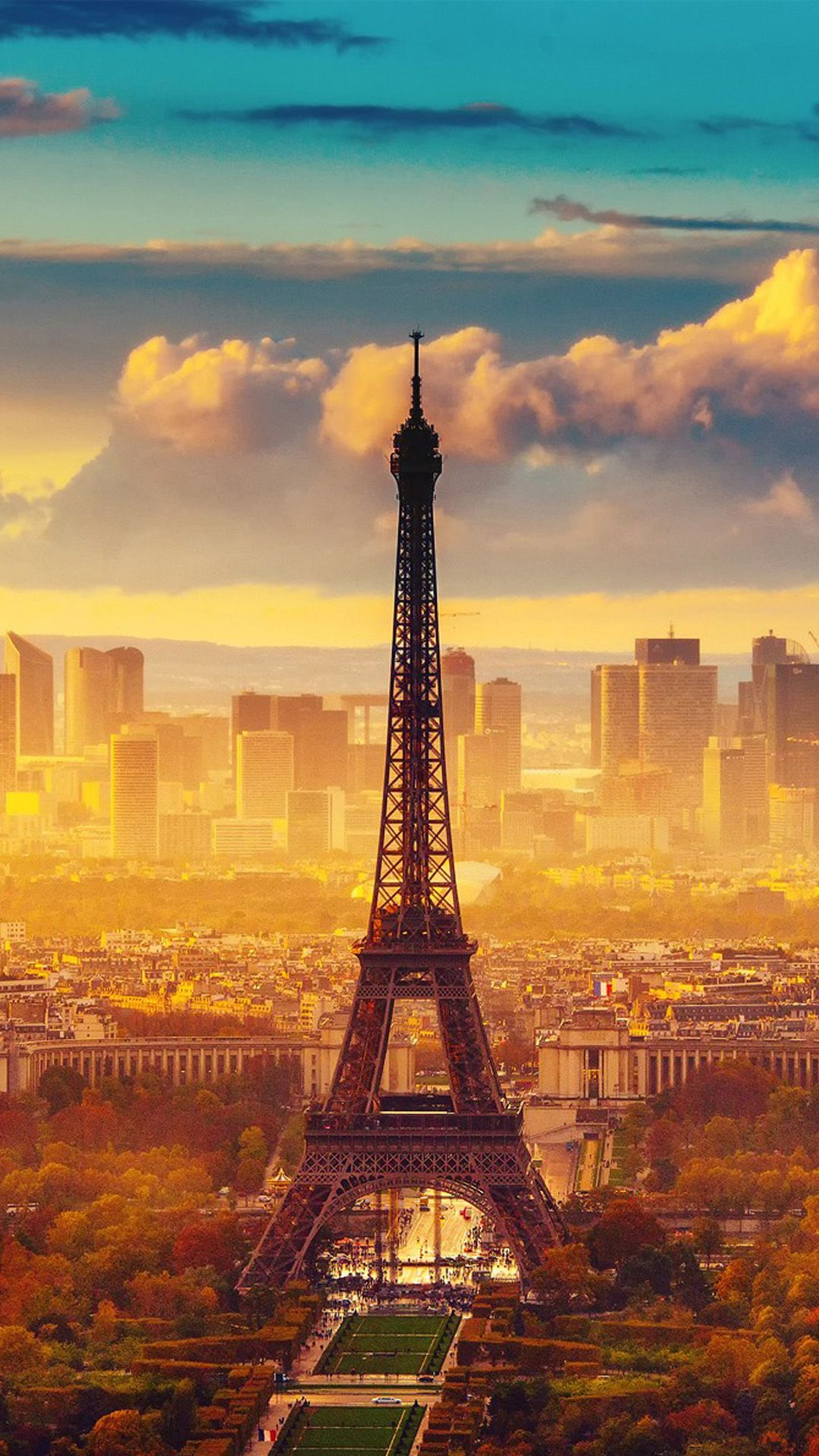Eiffel Tower, Paris, France. Beautiful city landscape. Tap