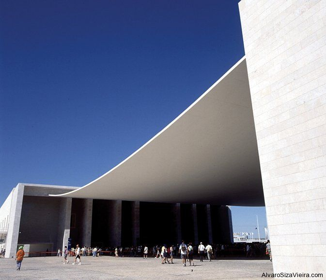 Concrete canopy lvaro siza dimster architecture for Architecture lisbonne