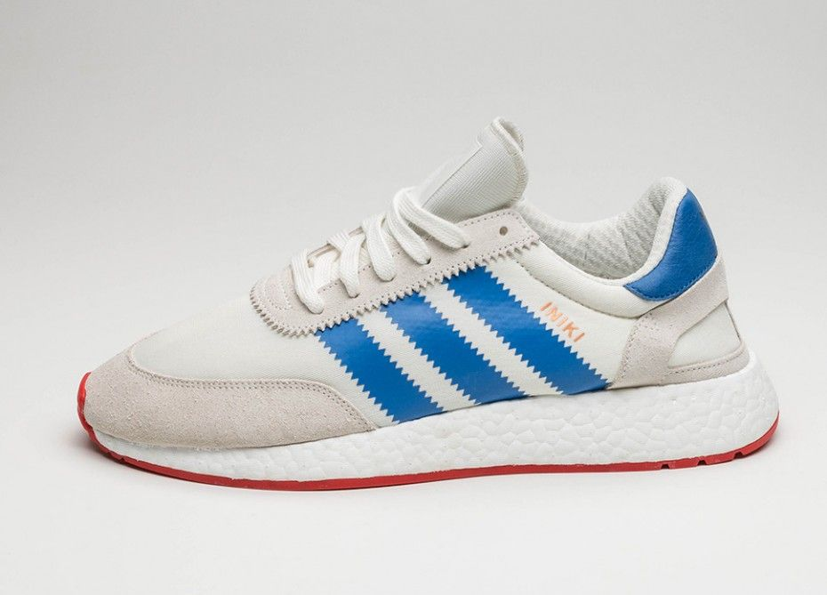 buy popular ff328 6b14a adidas Iniki Runner (Off White Blue  Core Red)