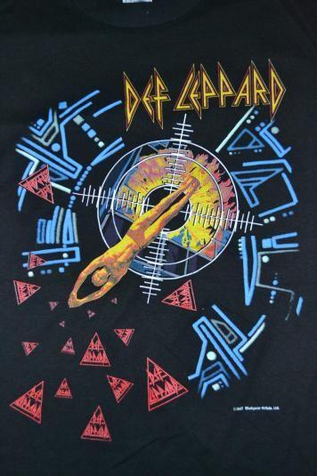 Vintage Def Leppard Hysteria Tour 1987 T Shirt Def Leppard Wallpaper Def Leppard Art Def Leppard