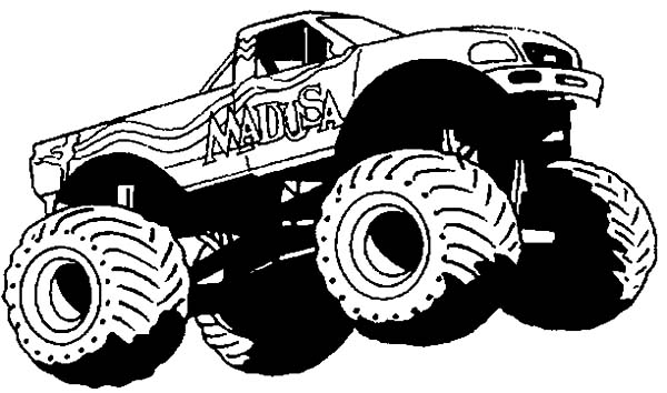 Monster Jam Wheelie Competition Coloring Pages : Color ...