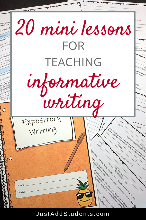 Informative/Explanatory Writing {Expository} Lessons - Just Add Students
