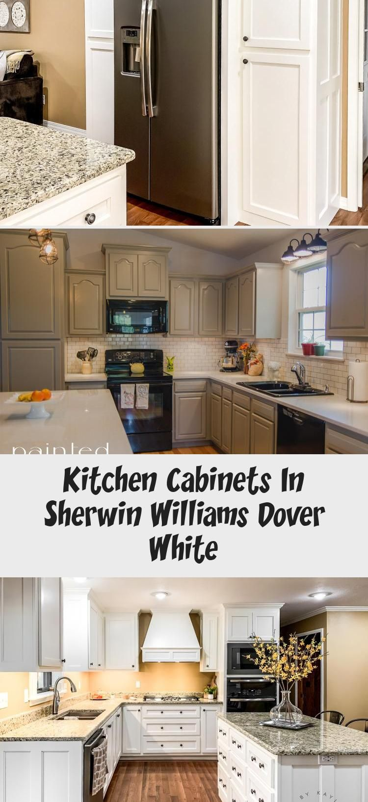 Kitchen Cabinets In Sherwin Williams Dover White | Sherwin ...