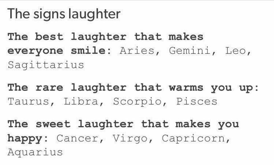 ~Cancer~tmw<<< my laughter makes everyone laugh at me cos it's so messed up but I guess that counts as smiling #zodiacsigns