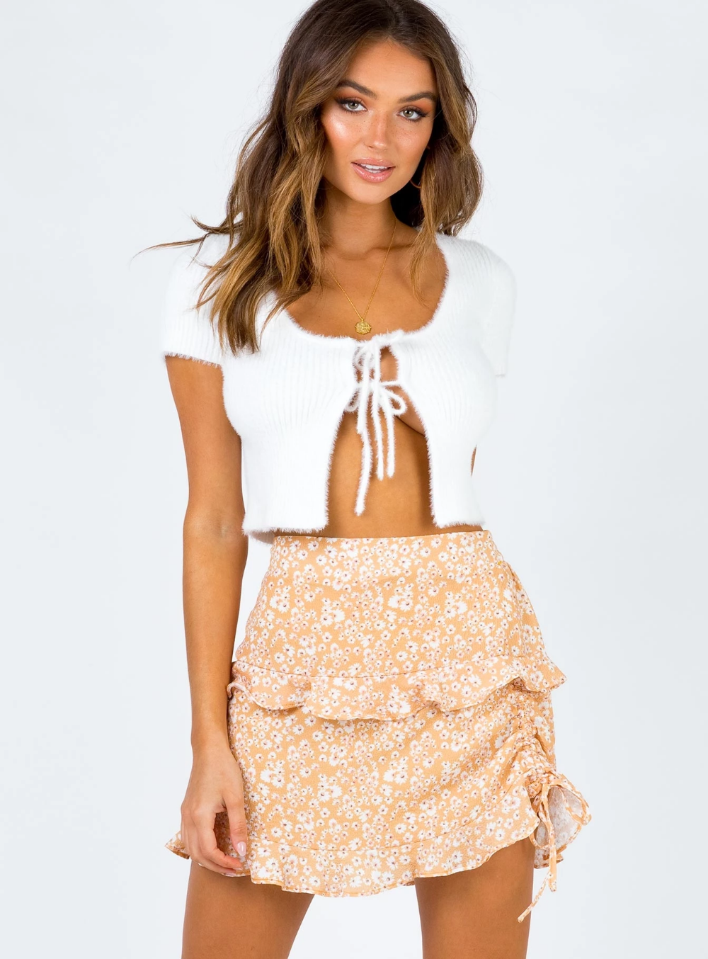 Olwyn Mini Skirt Princess Polly AUS Mini skirts, Peach