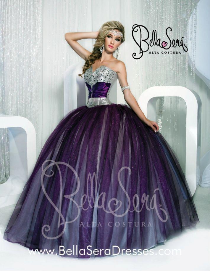 Purple and Silver Dress | 15 años mili | Pinterest | Purple ...
