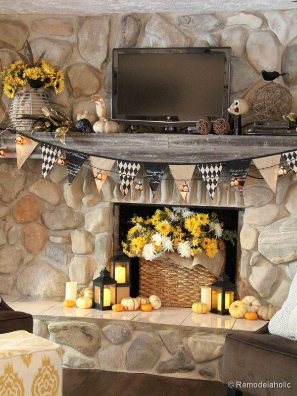 Fall and Halloween Mantel The flag, Mantels and The o\u0027jays