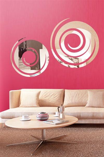 Wall Decals Swirl Mirror-Reflective Decal Mirror-WALLTAT.com Art ...