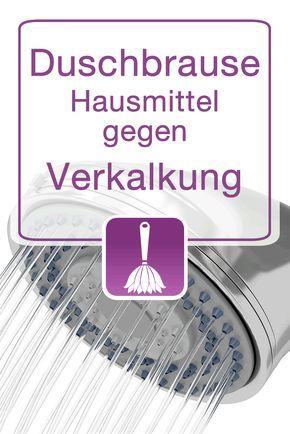 Hausmittel gegen verkalkte Duschbrausen