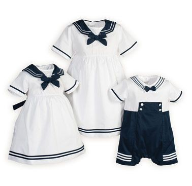 Premature Baby Girl/'s Nautical Sailor Striped One Piece Occasion Vintage Dress