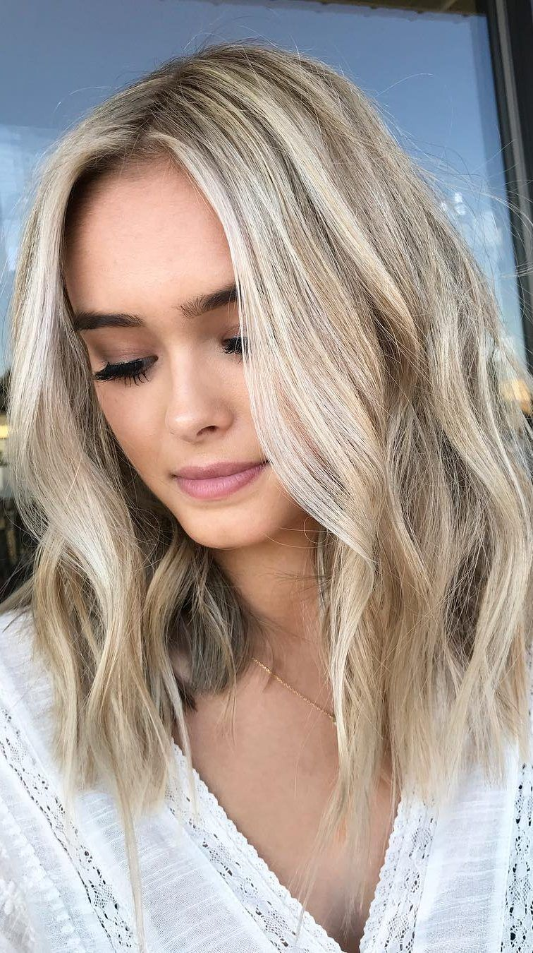 48 Stylish And Amazing Blonde Hairstyles For All Skin Tones Part 5 Medium Length Blonde Hair Hair Styles Medium Hair Styles