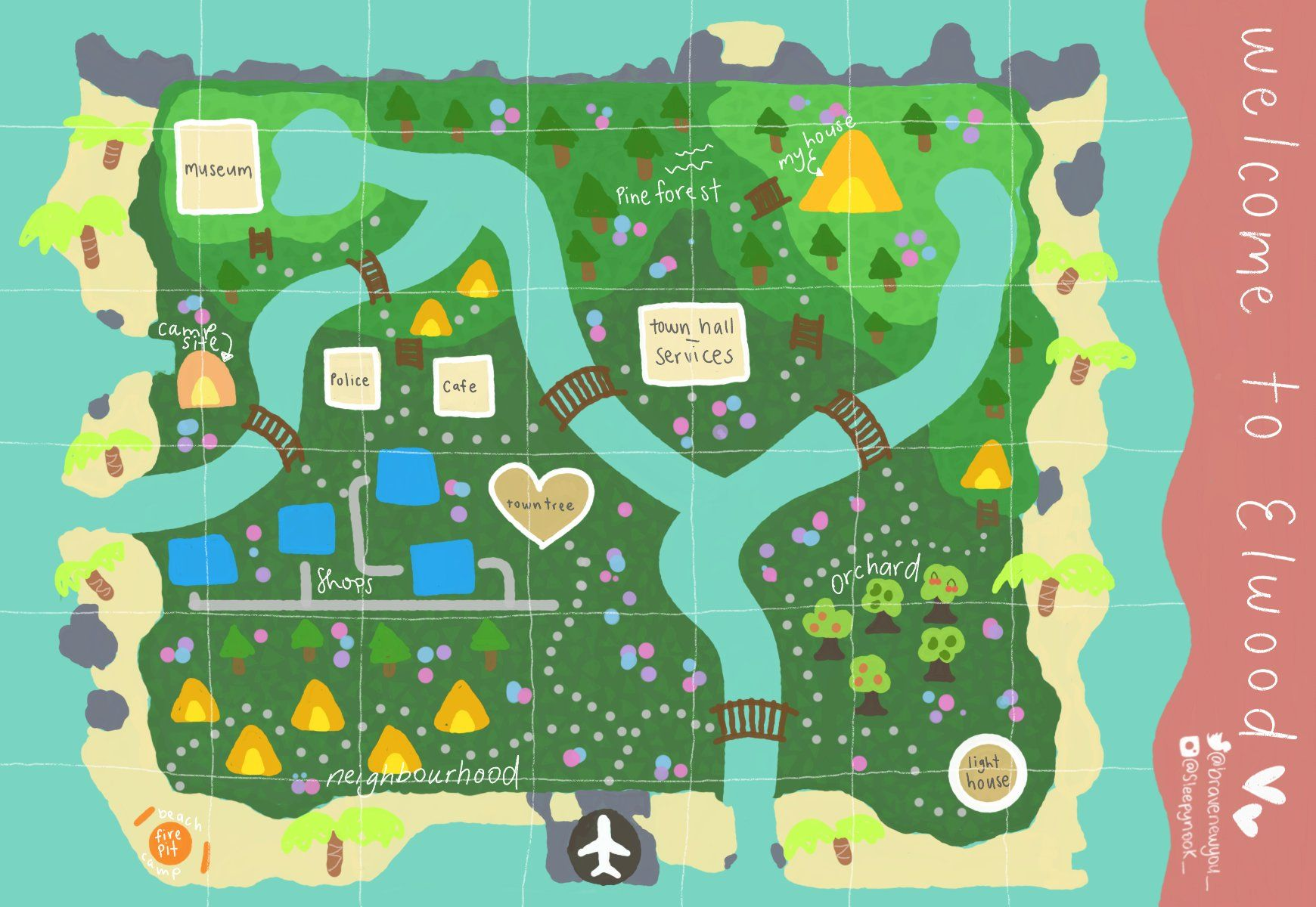 Sb On In 2020 Animal Crossing My Animal Map Layout