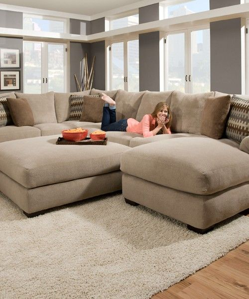 Deep Cushion Sectional Sofa Deep Seated Leather Sofa