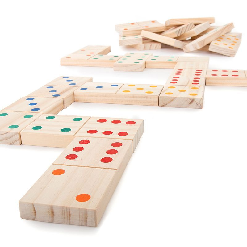 Hey Play Hey Play 28 Pc Giant Wooden Dominoes Set Products