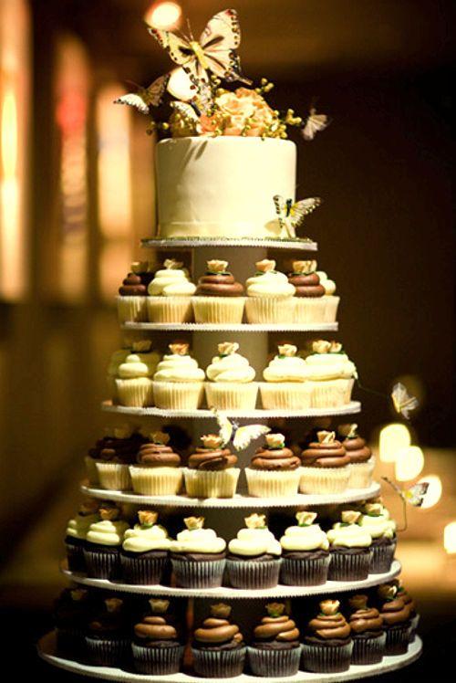 Pastel de Cupcakes | Tortas de boda | Pinterest | Fiestas, Wedding ...
