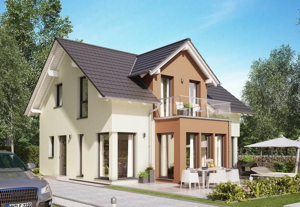 EINFAMILIENHAUS Mit Satteldach * Haus Edition 1 V7 Bien Zenker * Fertighaus  Modern Offener Grundriss Erker