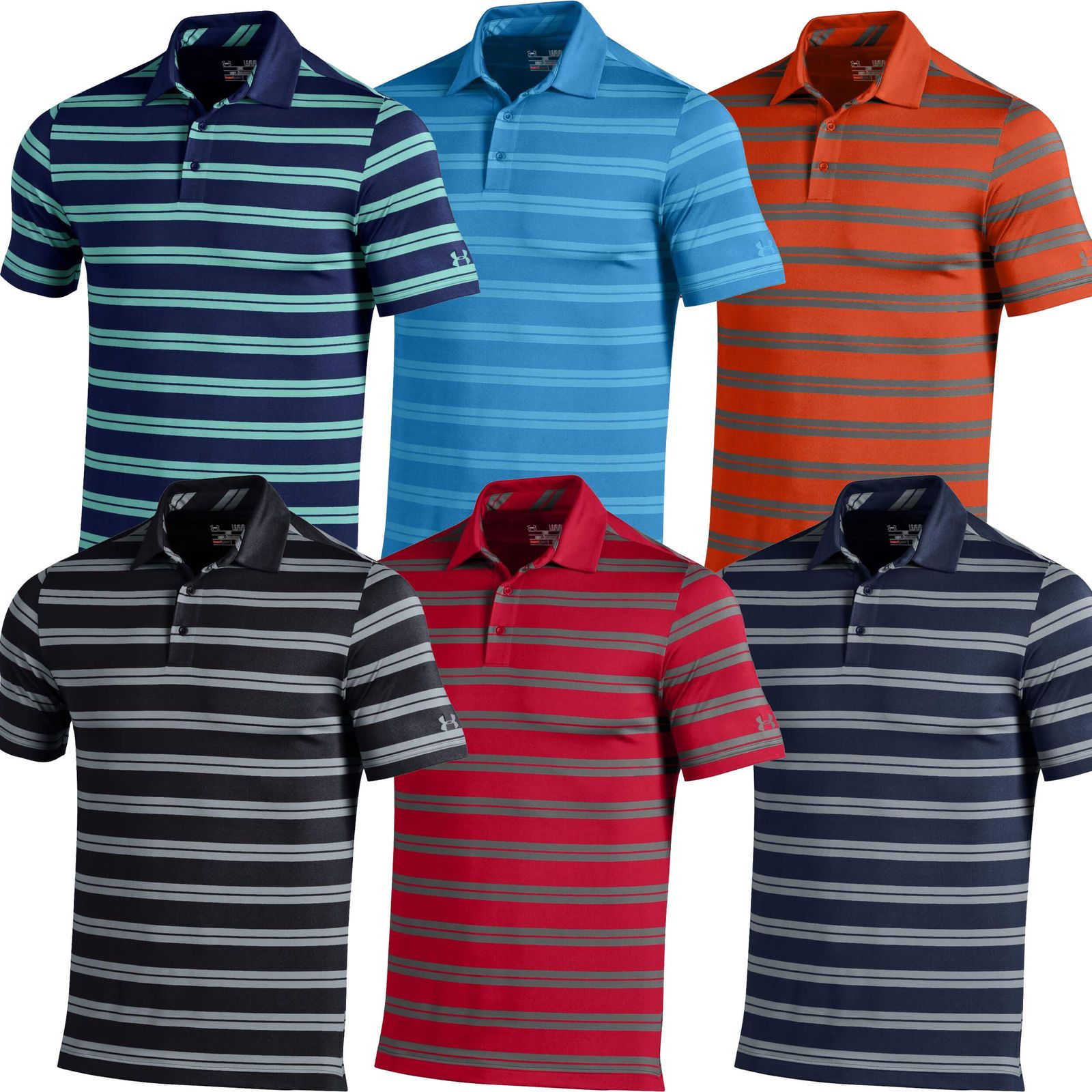 Under Armour Golf Shirt Long Sleeve Performance Polo Shirt Bcd