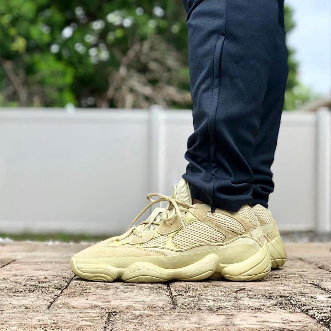 yeezy 500 yellow on feet