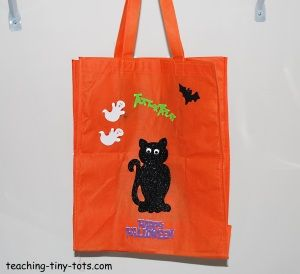have kiddos decorate their own treat bag and then collect treats