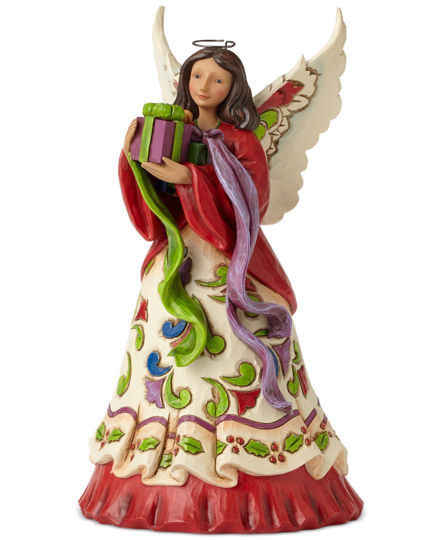 Jim shore angel with gifts collectible figurine holiday