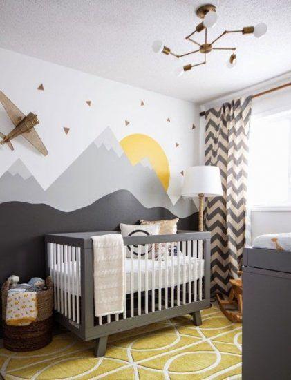 5 Ideas Para Pintar La Pared De Las Habitaciones Infantiles Baby - Decorar-pared-habitacion