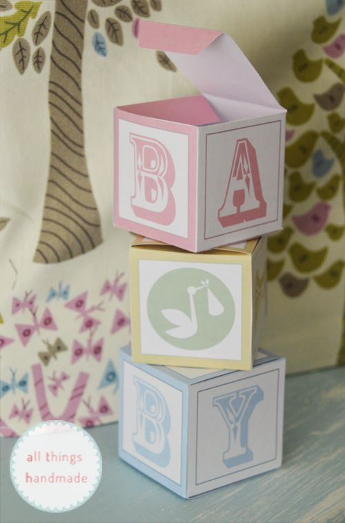 Baby shower favour boxes free printable party ideas for Baby shower decoration templates