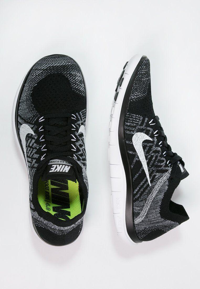 4d422588423b Bestill Nike Performance FREE 4.0 FLYKNIT - Trainers - black white wolf  grey dark grey for kr 1 245