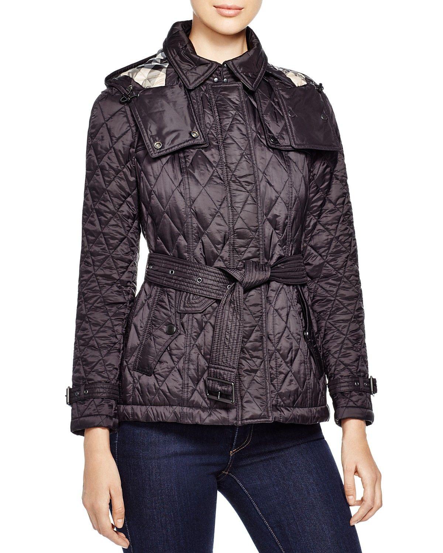 Burberry Short Finsbridge Quilted Coat Women Bloomingdale S Quilted Coat Quilted Coat Women Belted Jacket