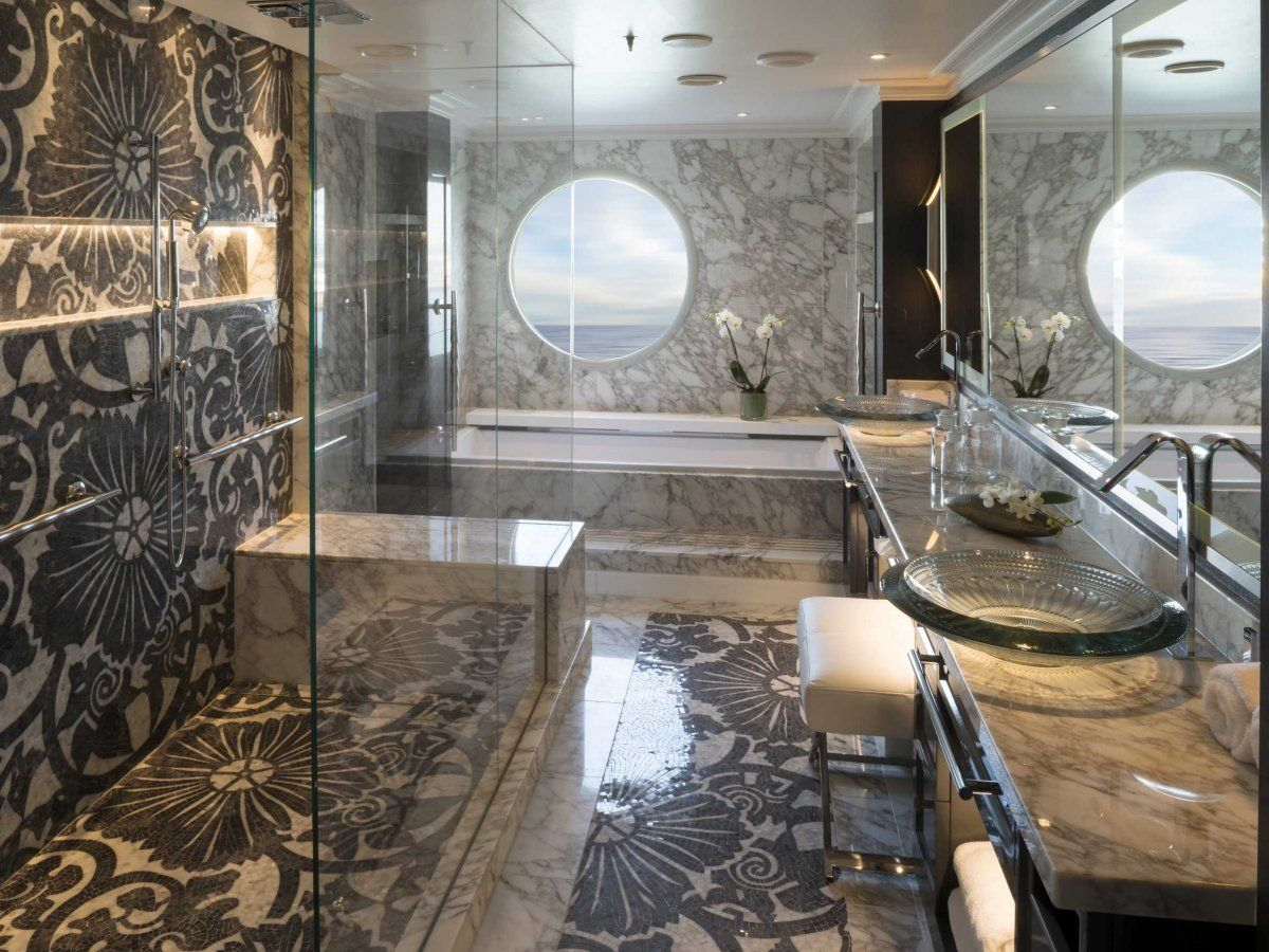 Most expensive bathrooms in the world - The 10 Most Luxurious Cruise Ships In The World Crystal Serenity