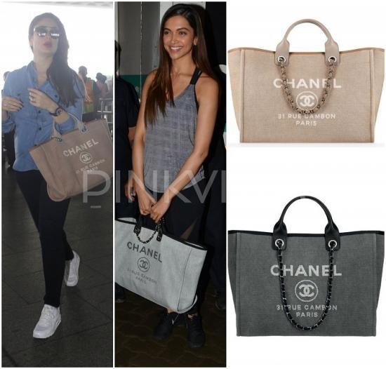 eff667c84de00b Bag Blog : Kareena and Deepika carry the Chanel Canvas Tote ...