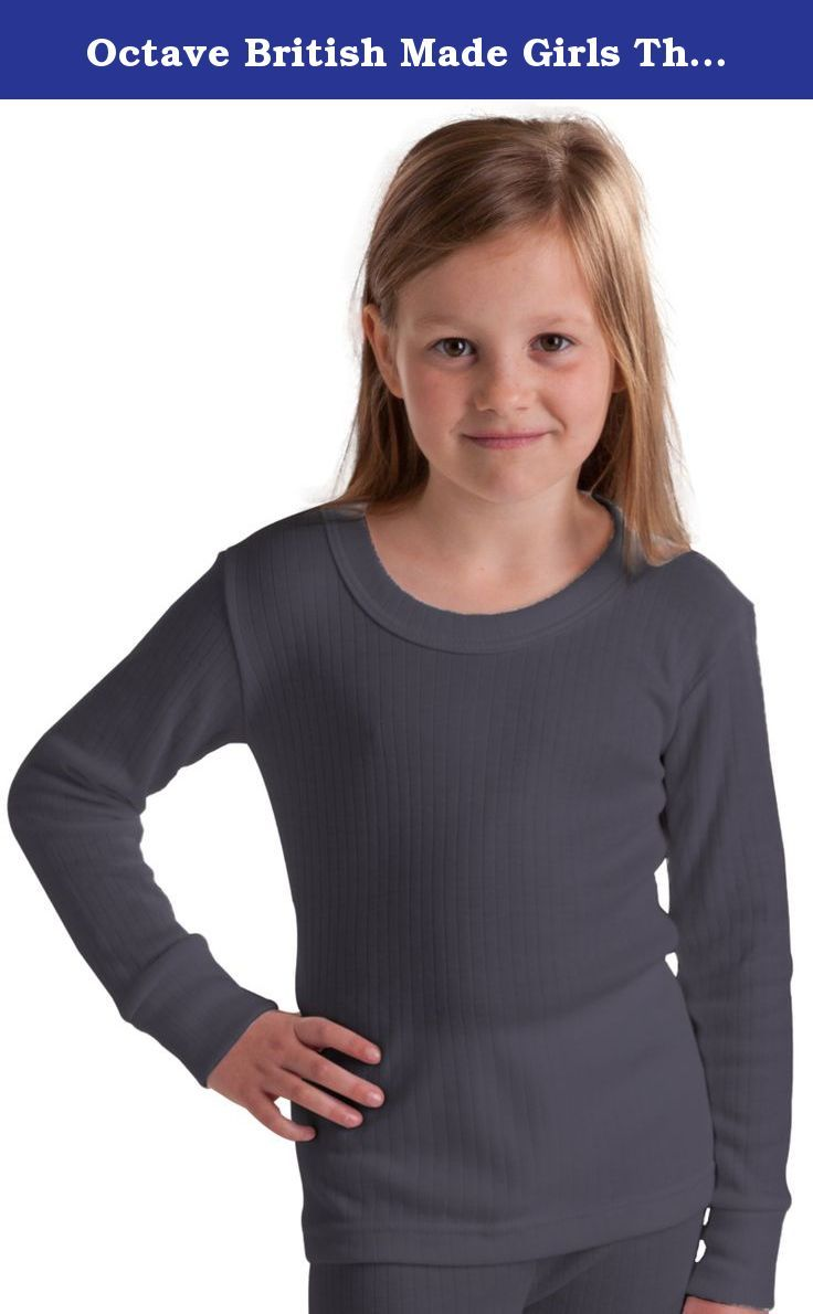 Octave British Made Girls Thermal Long Sleeved T-Shirt, Size 3/5 Yrs, Charcoal. Ultimate warmth for the upper body. Choose this for school trips and outdoor activities such as camping. Carefully made in the Great Britain.