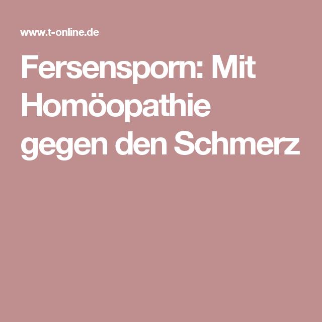 fersensporn homöopathie