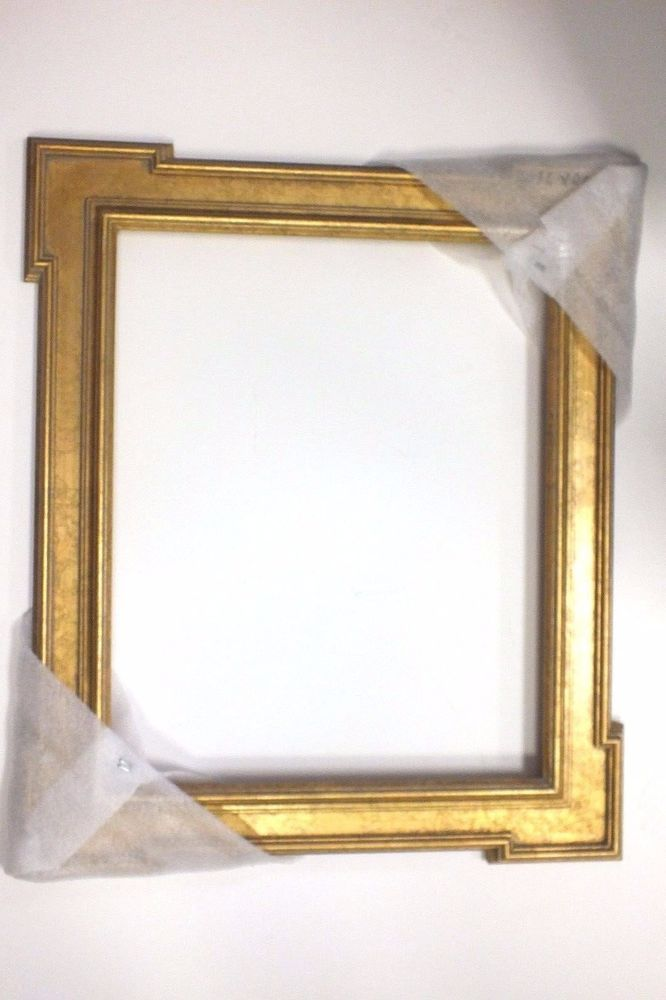 16 x 20 Gold Leaf Ornate Picture Frame Arrow Corners Gold Wood ...